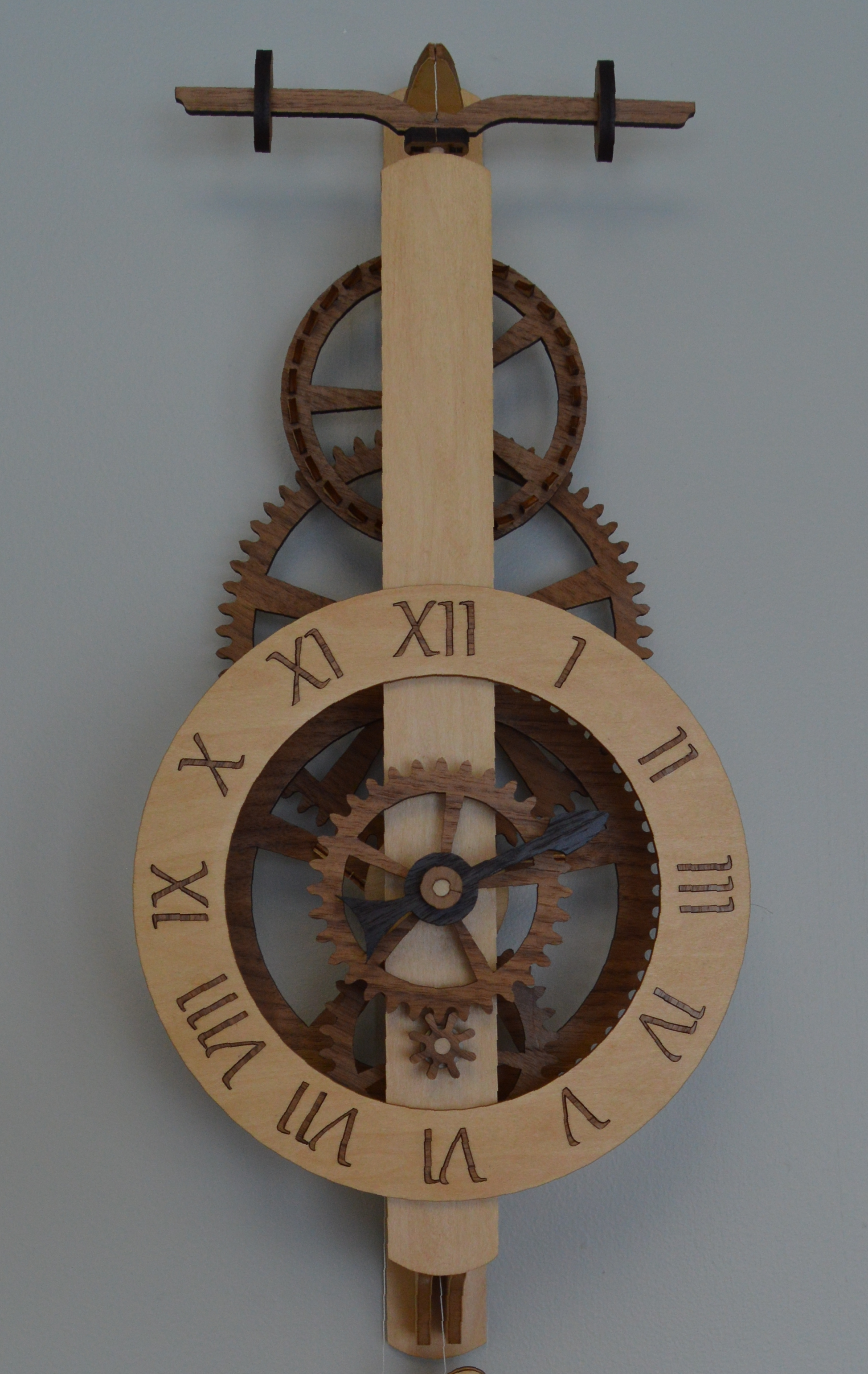 Ascent Wooden Gear Clock