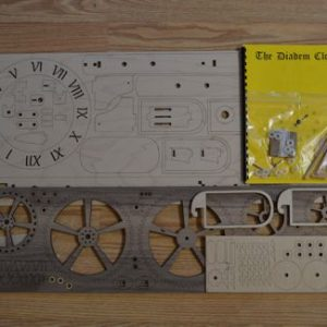 Diadem wooden clock kit contents