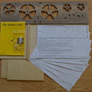 Diadem wooden clock plan/gear/material contents