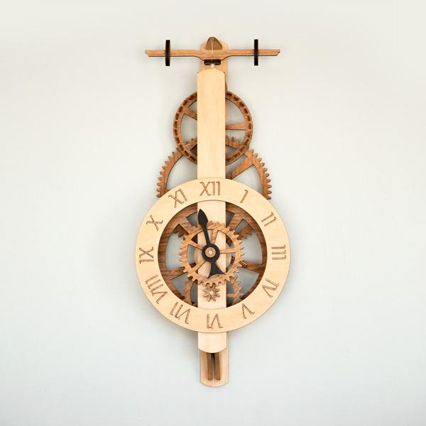 Diadem wooden gear clock