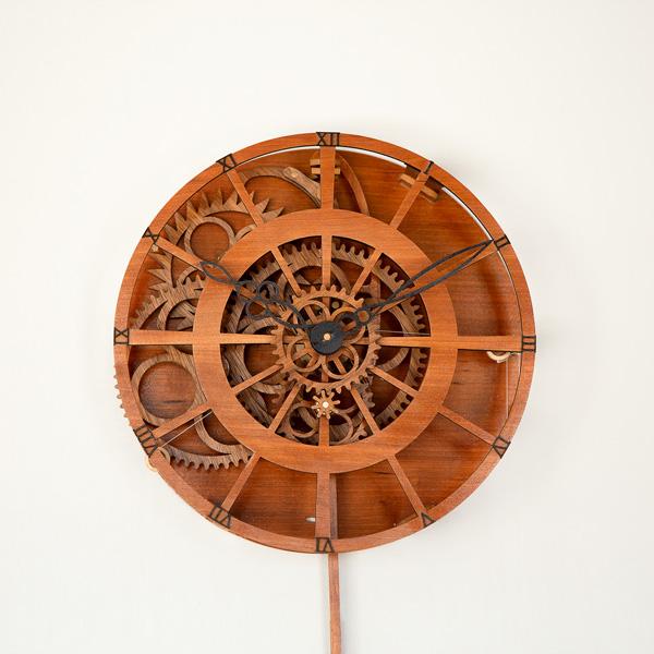 Legacy Wooden Gear Clock